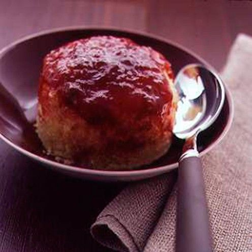 Easy jam sponge pudding. So yummy and quick for a school night.
