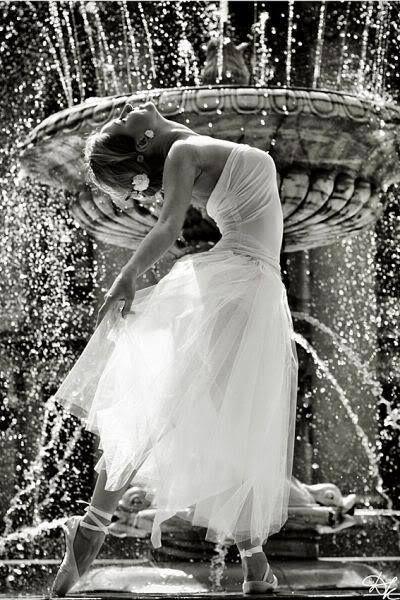 dancing in a fountain
