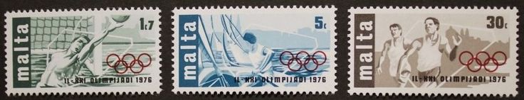 Olympic games stamps, Malta, 1976, SG ref: 559-561, 3 stamp set, MNH