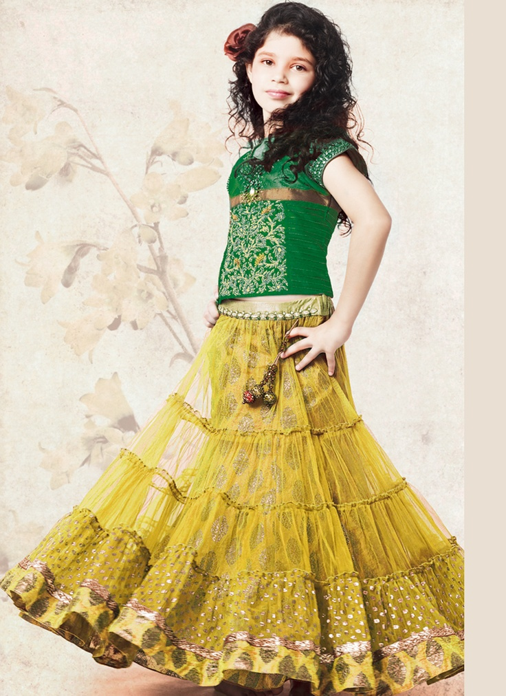 1000+ images about kids lehengas on Pinterest | Yellow ...