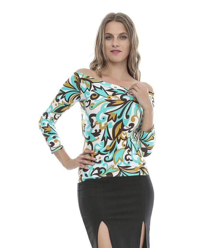 FashionSupreme - Bluză multicoloră cu imprimeu floral - Haine de damă - Bluze - Helen - jucați-vă cu moda. Haine şi accesorii de marcă. Haine de designer.