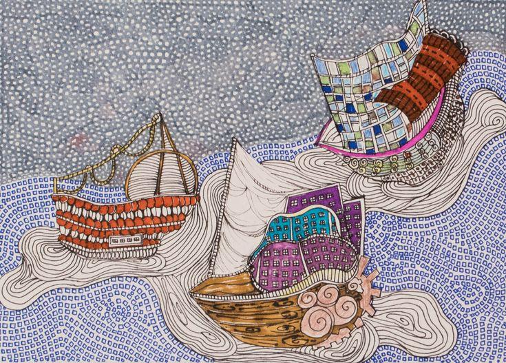 #ships #boats #markers #sea