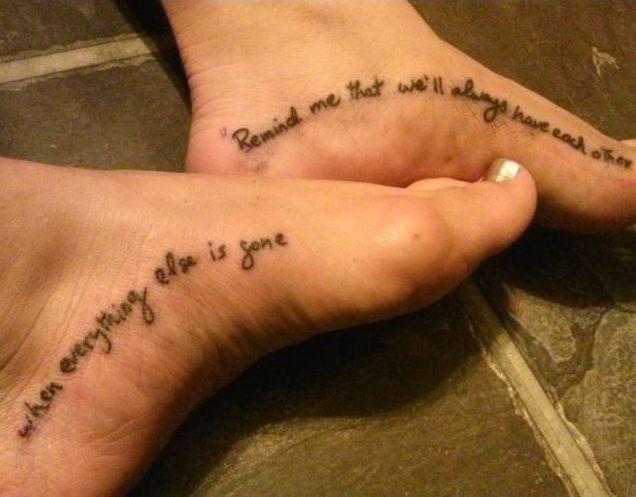 Best Friend Tattoos - 22 Best Friend Tattoo Quotes Check more at http://tattooviral.com/friend-tattoos/friend-tattoos-22-best-friend-tattoo-quotes/