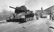 Korean War - A burned out T-34, September, 1950
