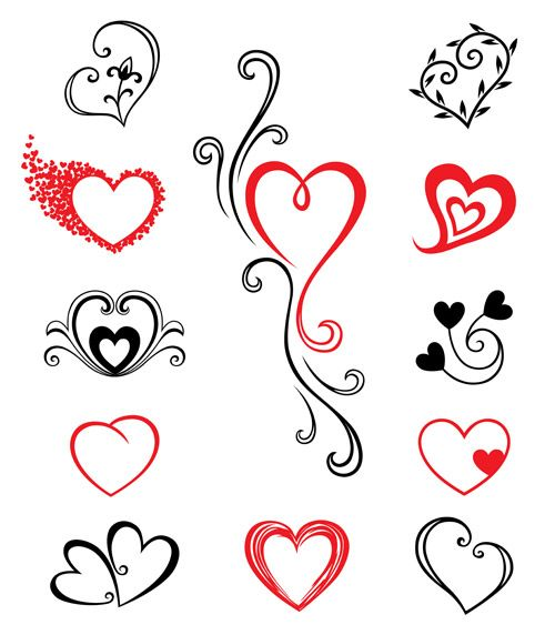 Two Hearts Tattoo Designs | Vector stock Tattoo Hearts GraphixShare