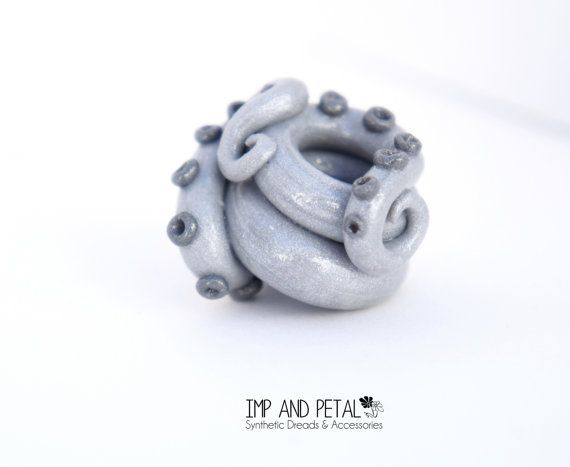 Tentacle Dread Bead by ImpAndPetal on Etsy, $8.50 #dreadbead #tentacle #bead