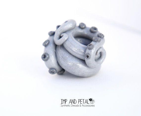 Tentacle Dread Bead by ImpAndPetal on Etsy, $8.50 #dreadbead #tentacle #bead