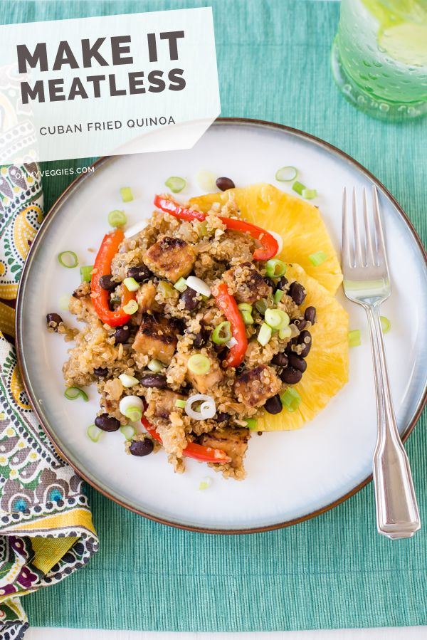 Cuban Fried Quinoa with Black Beans and Smoky Tempeh: Cuban Fries, Beans Smoky, Quinoa W Black, Black Beans, Tempeh Recipes, Smoky Tempeh, Fries Quinoa, Cuban Fried, Fried Quinoa