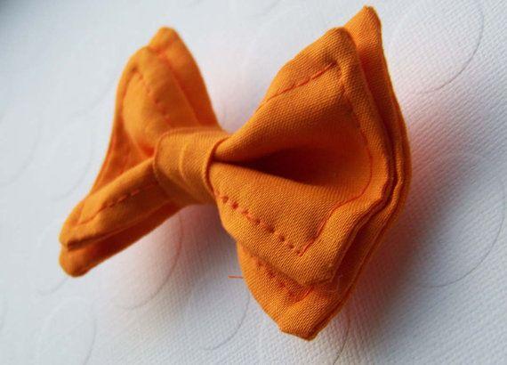 Orange Bow Tie  Bow Tie  Toddler Bow Tie  Newborn Bow by TinyTies