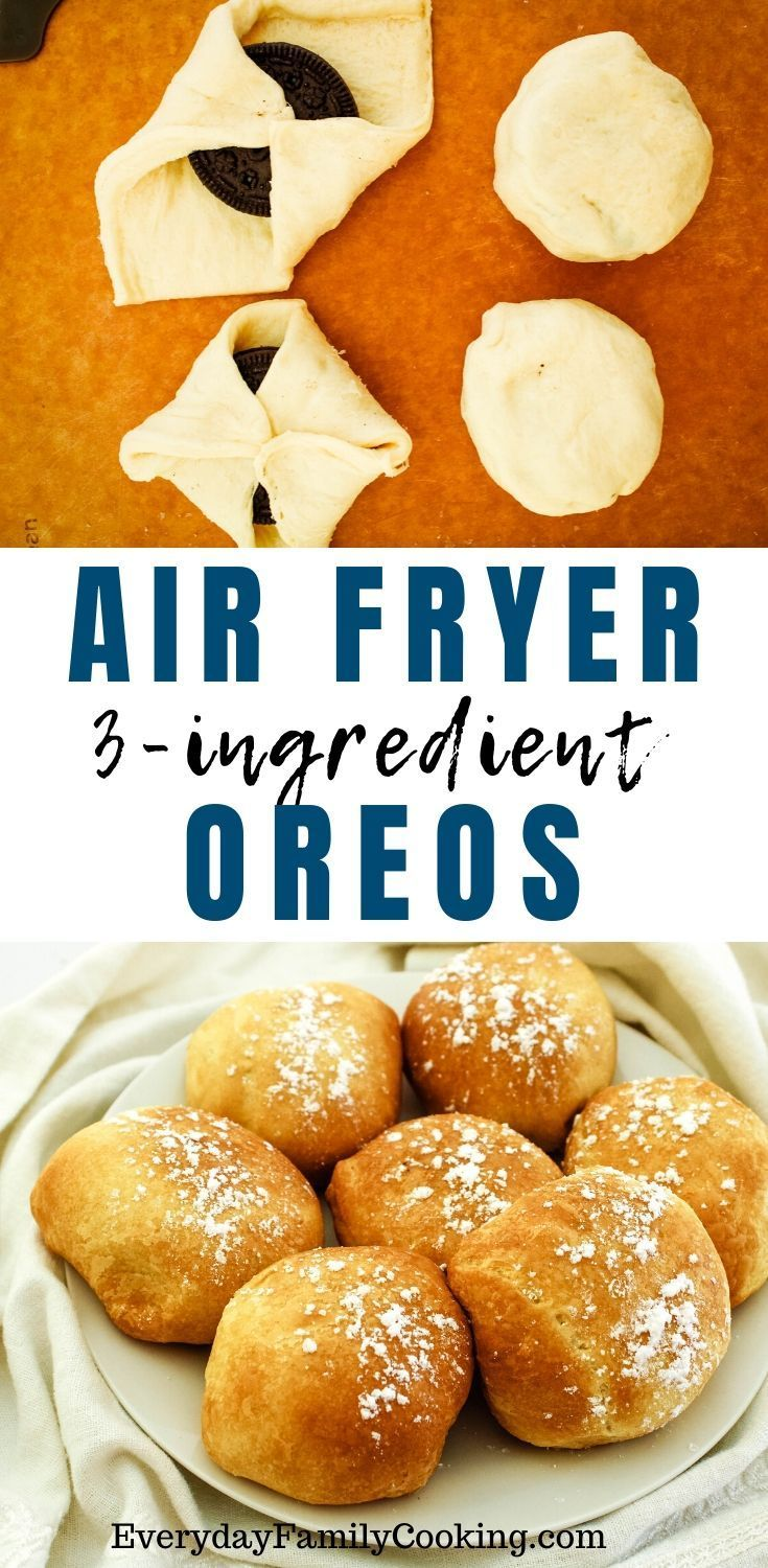 Air Fried Oreos with Crescent Rolls A Quick and Easy Air