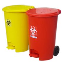 Wheeled Dustbin 55 Litters is available in many variety of colors red, blue, green and much more.