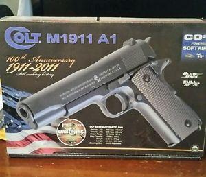 Ebay Item: Metal Airsoft Gun Blowback Pistol Colt 100Th Anniversary1911 Co2 Full 6mm FPS385
