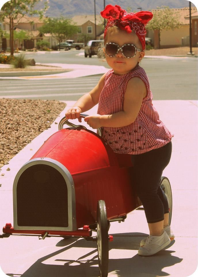 Rockabilly baby. How frickin cute is she?!