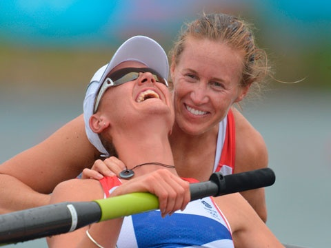 GB rowing team winning gold