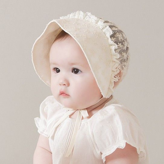 Baby Supplies Neonatal Fetal Head Infant Cotton Cap Baby Lace Hat Printing Flowers Adjustable Size Hat