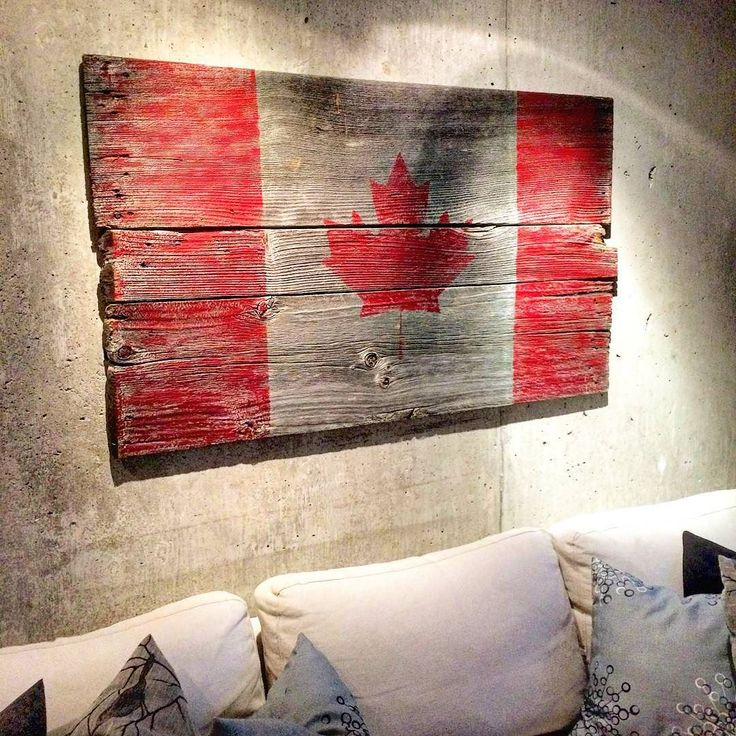 A client came into the shop yesterday with an idea for a project - the Canadian flag on barn board. We looked for just the right boards with worn edges and lots of character and even some nails left near the ends. The next day we received a picture of the boards put together painted and hung on a loft wall. What a great idea and result! #canada #flag #barnboard #reclaimed #reclaimed #diy #diyer #canadaflag #bespoke #maker by: @barnboardstore