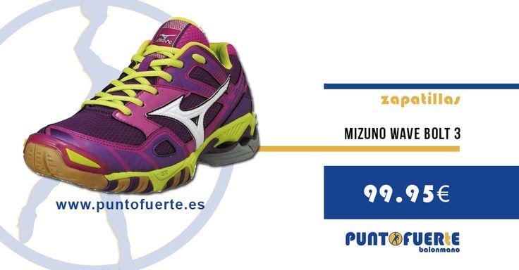 Zapatilla Mizuno Wave Bolt 3. Un salto de calidad. Un paso hacia delante. Chicas, ¿a qué estáis esperando? ¡Dad el salto! #zapatillas #balonmano #Mizuno #Bolt3
