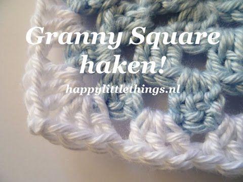 crochet granny square haken beginners deel 1 nederlands