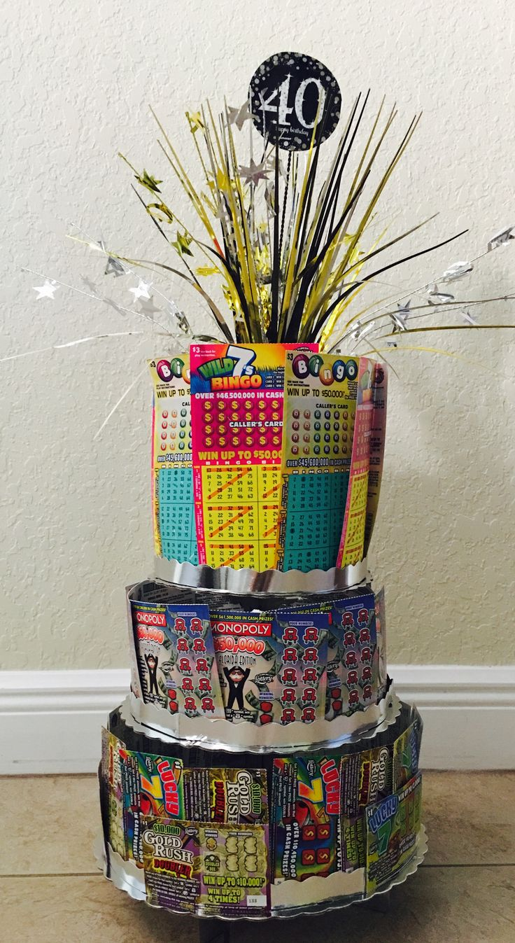 40th Birthday Scratch Off Ticket Cake Lottery Ticket