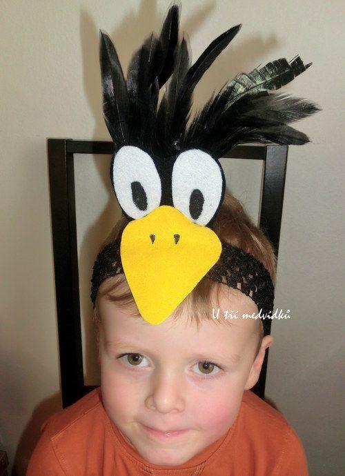 Karnevalová maska - vrána