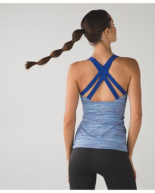 Enhearten Tank: we heart this strappy-back, scoop-neck tank that's designed to hold you in place during your practice.