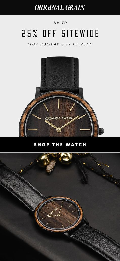 Shop our Pre-Black Friday sale for 25% off sitewide. Original Grain handcrafted wood & steel watches make the perfect holiday gift. Ends November 27.