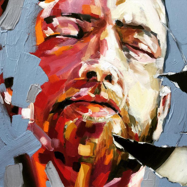 "Corne Eksteen 2015 Oil on canvas ""Songs for the Post-information age"" #art #painting #corneeksteen"