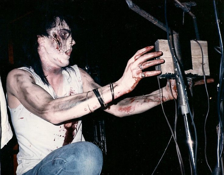 picture taken by crowded-by-vacancy.tumblr [1986, Skinny Puppy]