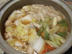 Wスープ!?で醤油ちゃんこ鍋のだし
