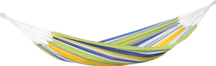 Amazonas Tahiti 1-Persoons Hangmat  Amazonas Tahiti Het materiaal waarvan deze Amazonas hangmat vervaardigd is bestaat onder andere uit katoen en polyester. EllTex is echter erg goed bestand tegen regen en UV-straling waardoor het uitstekend buiten gebruikt kan worden. Bovendien voelt dit materiaal erg zacht net zoals hangmatten die volledig van katoen gemaakt zijn. De Amazonas Tahiti kunt u erg gemakkelijk bevestigen aan de boom of een speciale standaard die apart verkrijgbaar is. De…