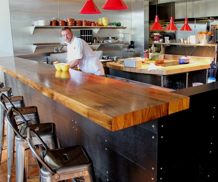 Longleaf Lumber custom-milled reclaimed American Chestnut bartop for  Firebrand Saints in Kendall Square, - 37 Best Reclaimed Wood Counters, Tables & Mantels Images On Pinterest