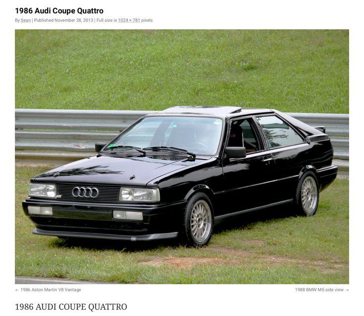 1986 AUDI Coupe Quattro