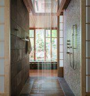 Une douche italienne d'inspiration japonaise - Marie Claire Maison