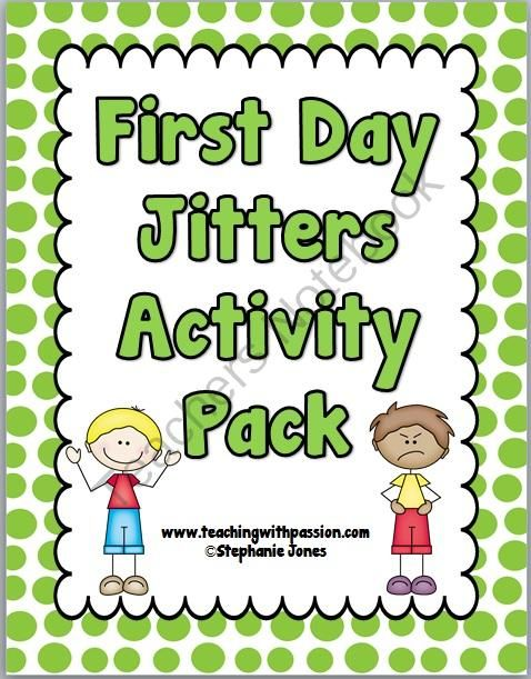 First Day Jitters Back to School Activity Pack from Teaching With Passion on TeachersNotebook.com (29 pages)  - Are you ready for the First Day of School? You will be with this First Day Jitters Activity Pack to use with your students on the first day of school. This is not the same as First Day Jitters Back to School Presentation, but it compliments each other wit