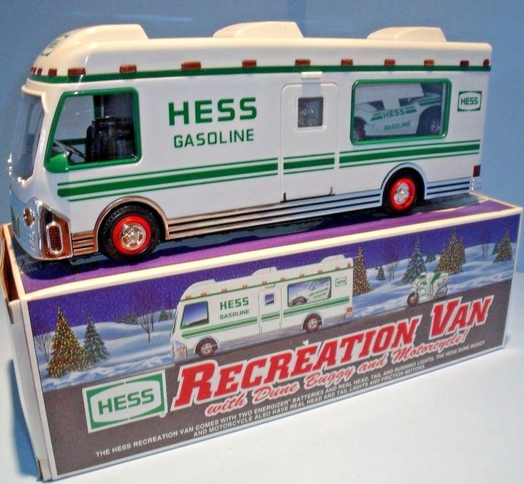 Hess Toy Truck - 1998 Recreation Van with Dune Buggy & Motorcycle NEW IN BOX #HESS