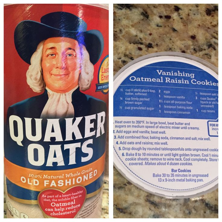 Quaker Oats Disappearing Oatmeal Cookies