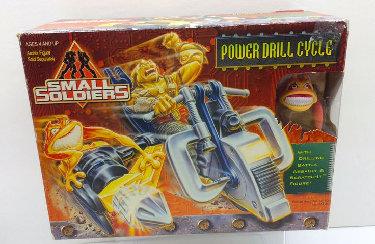 Small Soldiers Power Drill Cycle & Scratch-It Figure #Kenner