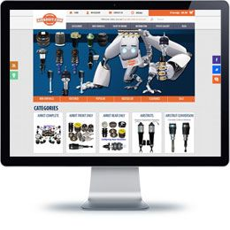 AirBagit E-commerce website built with Magento.
