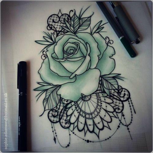 Would make pretty back of thigh tattoos. stencil guns n roses - Buscar con Google