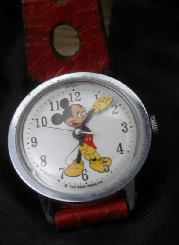 Mickey Mouse Watch Vintage Manual Wind by Timex