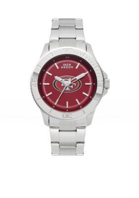 Jack  Mason Silver Womens San Francisco 49ers Color Sport Watch