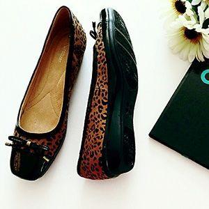 Naturalizer Shoes - NEW! Naturalizer Animal Print Cap Toe Ballet Flats