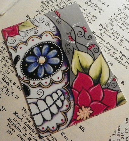 Also got this cute sugar skull I plan on pairing with some Jose Pulido prints :)