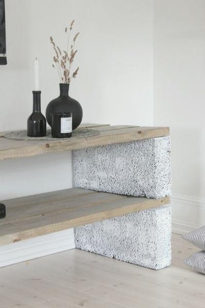 Bekijk de foto van MV01 met als titel Een paar celbetonblokken en wat stoere planken en kijk, wat een superleuk meubel kun je dan maken.  en andere inspirerende plaatjes op Welke.nl.