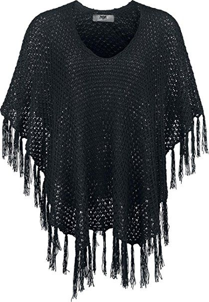Black Premium by EMP Knitted Poncho Poncho schwarz