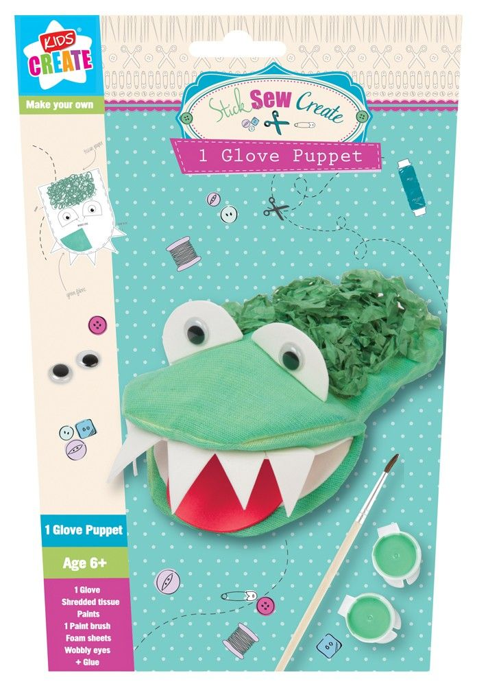 This lovely little craft kit contains all your budding crafter needs to create a crazy crocodile glove puppet. £1.99