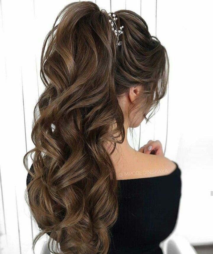 Messy Pony Tail Hairstyle Ideas Party Hairstyle Simple Hairstyle In 2020 Hair Styles Long Hair Styles Party Hairstyles For Long Hair