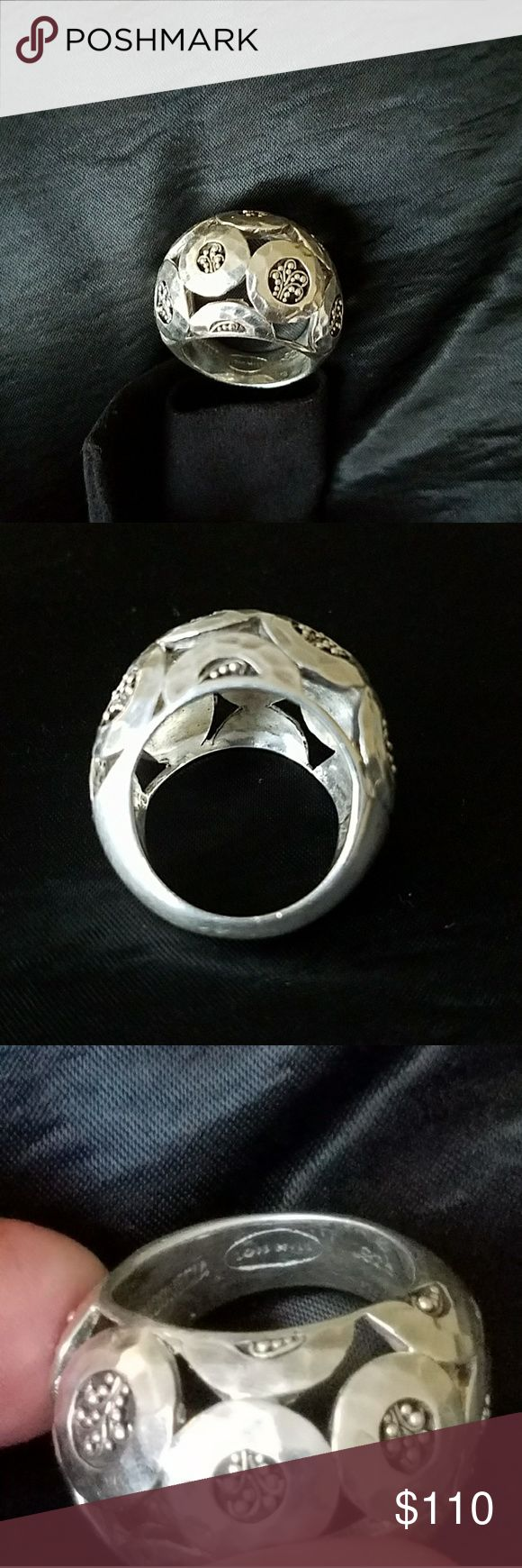 Lois Hill Ring Lois Hill 925 Silver Ring. This big ring has beautiful designs. Regular signs of wear. LOIS HILL Jewelry Rings