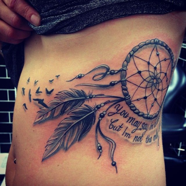 Tattoo Quotes Dreams: Dreamcatcher Tattoo With Quote