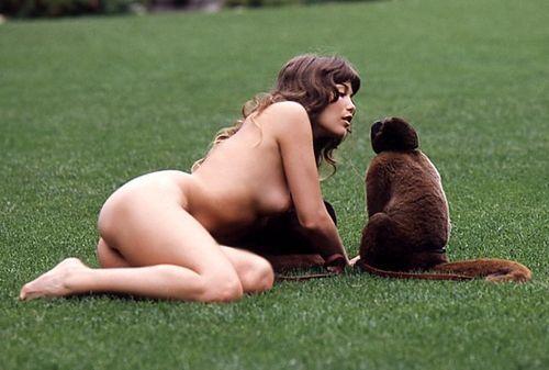 Barbi Benton just monkeying around